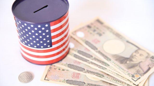 お金とアメリカの貯金箱